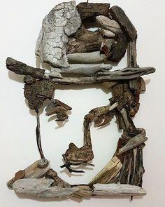 #antalya #ahşap #ahsap #woodworking #woodart #driftwoodartist #driftwoodart #portrait #portrett #portret #lara #sirinyali #charliecaplin #sharlo #sanat #art #handmade #elyapimi