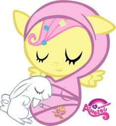 Newborn Fluttershy Asleep by atnezau.deviantart.com on @deviantART