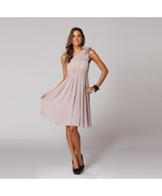 Langhem Mandy Latte One Shoulder Party Dress - LOVE! this might be it!!