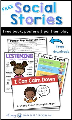 Social stories are a game-changer for teaching social skills and self-regulation in the primary classroom. FREE stories, partner plays and posters to create a more peaceful classroom. #SEL #socialemotionallearning #characterdevelopment #gradeone #kindergarten #socialstories