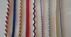Medieval fingerloop braids