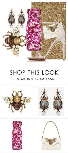 """""""Gold beettl"""" by fashionista-763 on Polyvore featuring мода, Gucci, Alexander McQueen, Dolce&Gabbana и Calvin Klein"""