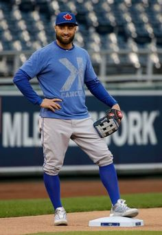 Kevin Pillar, TOR, workout day in KC before ALCS, Oct 15, 2015