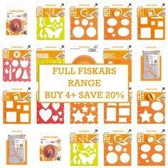 Fiskars ShapeCutter Paper Card Craft Cutting Tool/Stencils/Templates: ALL SETS