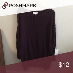 Deep purple, long sweater from Forever 21 Purple, lace detail at the bottom, thick material Forever 21 Sweaters
