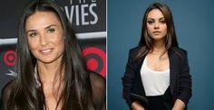 Mila Kunis usa roupas que eram de Demi Moore e deixa atriz em choque