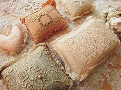 antique lace for ring pillows...