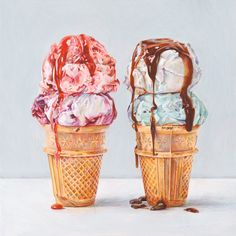Ice Creams 3. Limited edition giclée print. (40.00 GBP) by JoelPenkman