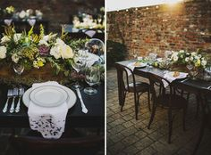 Natural green and white centerpieces with succulents | Ariel Renae Photography