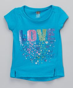 "French Toast turquoise ""Love"" tee on Zulily."