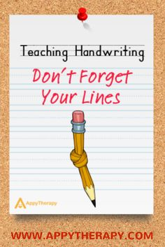 Using three-lined paper is critical to handwriting development and makes it easier for students to know where to start and end their letters. Teaching Handwriting, Handwriting Activities, Improve Handwriting, Nice Handwriting, Teaching Letters, Handwriting Worksheets, Handwriting Practice, Writing Lines, Pre Writing