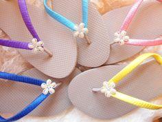 Bridesmaids shoes  Flip Flops  Many Colors by AdrianaSantosBridal, $37.00