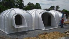 Estas casas semi-enterradas, modulares y sostenibles pueden ser totalmente ensambladas en solo 3 días!