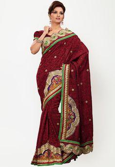 party #Saree - #SAREES - #jabongworld #indianethnic #ethnic #indiansarees #fabdeal