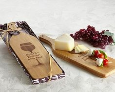 """A cutting board, cheese and appetizer serving board all-in-one (even use it to serve wine) that is reversible, too! This amazing gorgeous wine bottle shaped cheese/antipasto board features etched wine glass design with """"Buon Cibo, Buon Vino and Buoni Amici"""" messaging (meaning """"Good Food, Good Wine & Good Friends"""" in Italian).   eBay!"""