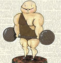 Strongman by Nessa Dee Big Top, Great Pictures, Musicals, Carnivals, Strong, Illustrations, Etsy, Health, Food