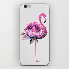 Flower Flamingo iPhone Skin