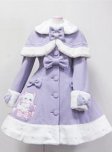 Angelic Pretty Vanilla-Chan Coat (Plain) (in Lavender, M)-for a little girl obviously