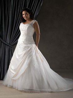 2013 Attractive Plus Size A-line Square Floor-length White Wedding Dress - $171.99 - Trendget.com