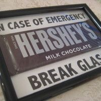 Emergency Chocolate, Christmas Gift, Gift for Teacher, Chocolate Lovers, Funny Gifts, Picture Frame Gifts- FOLLOW ME!