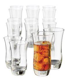 Another great find on #zulily! Martello 16-Piece Glass Set #zulilyfinds