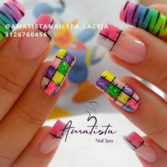 Nail Spa, Nail Manicure, Love Nails, Pink Nails, Acrylic Nails, Nail Designs, Instagram, Sophisticated Nails, Edgy Nails