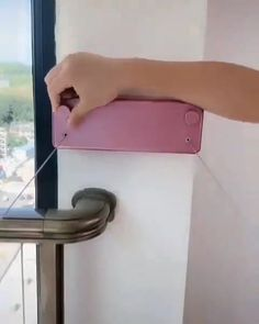 This is ingenious! Everyone needs one even if just for their laundry room to hang clothing! Text JustHomes to 59559 Home Room Design, Home Interior Design, House Design, Diy Furniture Videos, Home Decor Furniture, Room Cleaning Tips, Small Balcony Decor, Dorm Storage, Apartment Balcony Decorating