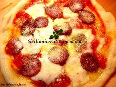 Pizza con salame e bufala
