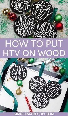 How To Put Heat Transfer Vinyl On Wood