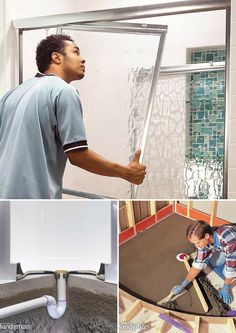 Shower Installation: Shower installation and repair is easy with these how-to articles. http://www.familyhandyman.com/bathroom/shower-installation