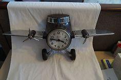 antique sessions airplane clock bakelite art deco