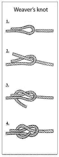 weaver's knot nodo del tessitore