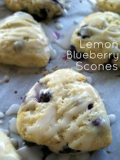 Lemon Blueberry Scones Recipe - the kids will love the added lemon; might do some strawberry/lemon too.