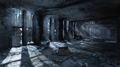 """The ashen and snowflaked interior of Metro: Last Light's """"The Dead City"""". Shadows and Dust..."""