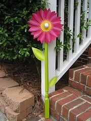decorative flower yard art