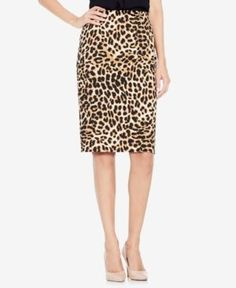 d4d1495fb7 Vince Camuto Animal-Print Pencil Skirt - Rich Black XXS Cute Skirts, Exotic  Pets