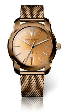 Men's Watch - Gold with Brown Pvd Dial - D&G Watches | Dolce & Gabbana Watches for Men and Women