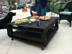 black pallet coffee table