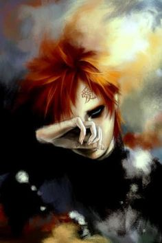 A cool picture of Gaara. Kinda reminds me of Ziggy Stardust cause of his hair.
