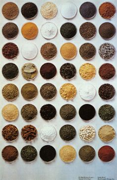 spices organized neatly