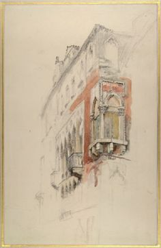 Ruskin, John - Part of the Palazzo Priuli, Venice Illustrations, Illustration Art, John Everett Millais, John Ruskin, English Artists, Pre Raphaelite, Drawing Websites, Urban Sketching, Italian Art