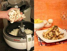 Receitas Actifry: Tirinhas de frango com Vinho do Porto e cogumelos