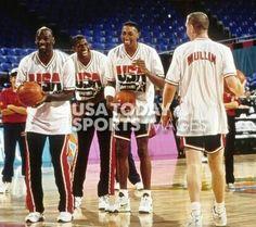 Michael Jordan, Magic Johnson, Scottie Pippen and Chris Mullin