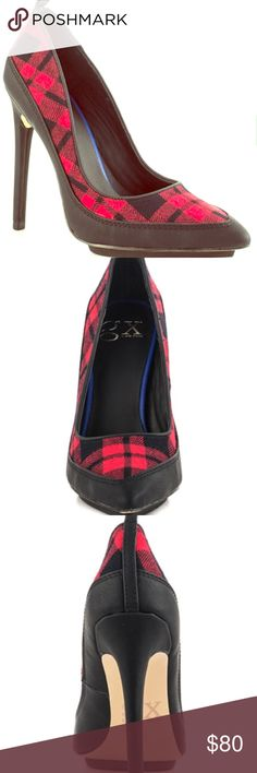🎉 2 DAY SALE 🎉GX Trio-Red Plaid I love these heels but only worn once, 4 1/2 inch heel GX by Gwen Stefani Shoes Heels