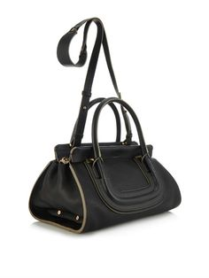 CHLOE - £1,310. Everston leather tote Black | MATCHES FASHION
