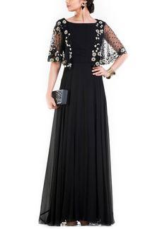 Anushree Agarwal   Long Jet Black Dress   Shop Dresses at strandofsilk.com