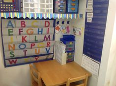 Prek writing center