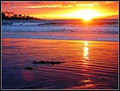 Sunset, San Diego, La Jolla Shores Beach by moonjazz, via Flickr