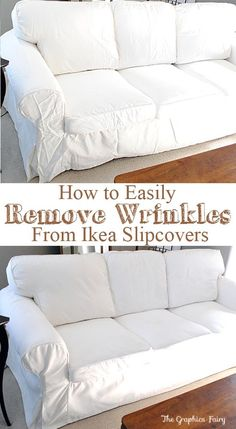 How to Easily Remove Wrinkles from Ikea Slipcovers!