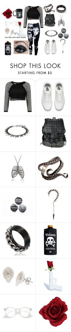 """I wake up in the darkness"" by pastel-punk-princess-of-night ❤ liked on Polyvore featuring Vans, Joomi Lim, Børn, Suck and Pyknic"